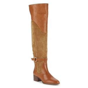 NEW Chloé Lenny Suede Leather Knee-High Boots 37.5